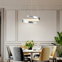 NEW Modern LED Chandelier With Spiral Ring Chandelier With Adjustable Light 55w $97.00