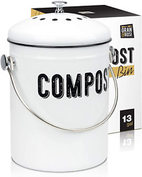 Farmhouse Kitchen Compost Bin With 100% Rust Proof And on Smell Filters $39.84
