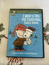 I Want a Dog for Christmas Charlie Brown DVD 2009 Deluxe Edition $10.00