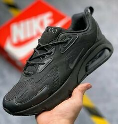 Nike Air Max 200 Triple Black AT6175003 Training Running Women#x27;s Shoes AUTHENTIC $79.99