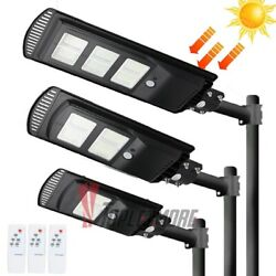 Outdoor Commercial 576LED Solar Street Light IP67 Waterproof Dusk to Dawn Lamp