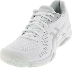 Asics Women`s Gel Challenger 12 Tennis Shoes White and Silver 11.5 White and $94.95