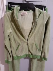 Juicy Couture Velour Tracksuit Hoodie Jacket amp; Pants Brand New Size Medium $45.00