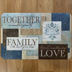Together Family Love Teal Vinyl Kitchen Placemats Table Decor 17x11 YOU PICK $1.99