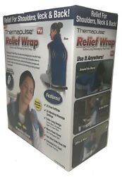 Thermapulse Relief Wrap Extra Long Massaging Heat Wrap Blue Color $27.99