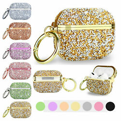 For Airpods Pro 1amp;2 Bling Glitter Diamond Keychain Sparkly Case Protective Cover $8.97