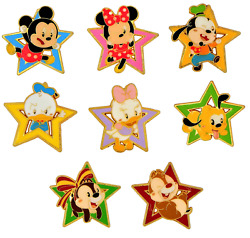 Mickey and Friends Baby Star 6 Specific Disney Park Trading Pins Set Brand NEW $11.95