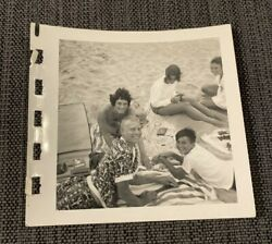 Cute Teens Boys Girls Playing Games On Beach 1960s Bamp;W Vintage Photograph $12.99