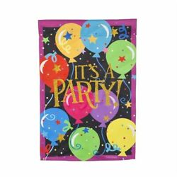 """It#x27;s A Party 14S4701BL Evergreen Suede Garden Flag 12.5"""" x 18"""" $9.50"""