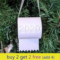 Novelty Christmas Ornament 2020 TOILET PAPER ROLL Tree Ornament Decor Special $7.49