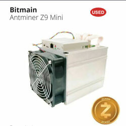 2x Used Miner Antminer Miner Z9 Mini 10KSOL s For Zcash Cryptocurrency with PSU C $500.00