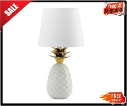 Gold White pineapple globe orb ceramic bedside Table Lamp night light desk shade $70.23