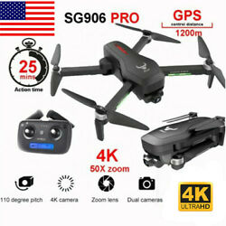 SG906 PRO GPS RC Drone Camera 4K 5G Wifi 2 axis Brushless Quadcopter w Case I7R1 $121.25