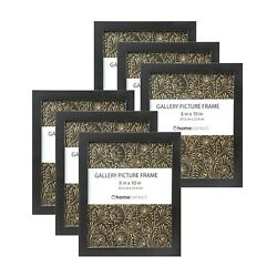6 Piece Picture Frame Set Easel Back amp; Wall Mount Black $19.98