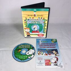 I Want a Dog for Christmas Charlie Brown DVD 2004 w Insert Excellent $10.49