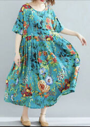 Women Maxi Plus Short Sleeve dress Ply 4X Teal Ships Fast $33.60