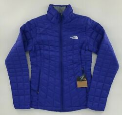 The North Face Women#x27;s Thermoball Eco Jacket Aztec Blue NWT FREE SHIPPING $119.99