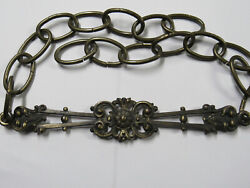 Vintage Antique Antique Brass Chandelier Chain Decorative Link 29quot; Steel Chain $42.46