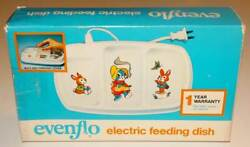 Evenflo Electric Feeding Dish Divided Plate Baby Food Hot Cold Warm Cool w Box $19.90