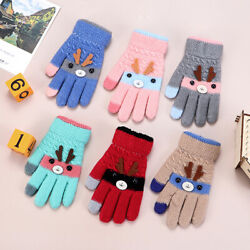Warm Gloves Kids Baby Gloves Thick Warm Children#x27;s Gloves Boys Girls Mittens $3.41