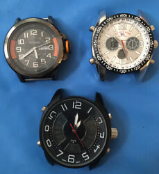 3 Mens Watches ARMITRON U.S POLO ASSN. amp; Model 33179 Just Watches No Band $29.50