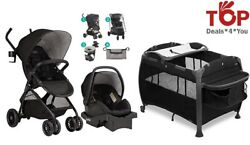 Evenflo Travel System Set with Accessories Starter Kit Stroller Car Seat Playard $499.99