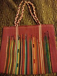 Carpet bag large with Braided Straps $14.00