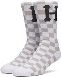 Stance Men#x27;s Blackout Checkerboard Crew Socks One Size NWT $10.99