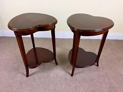 Lane Furniture Two Tier Heart Shaped Accent Table Pair $459.00