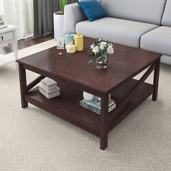 YITAHOME Coffee Table Storage Shelf Modern Furniture End Side Table Living Room $123.49