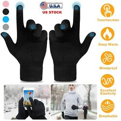 Touch Screen Winter Knitted Gloves Men Women Smartphone Texting Warm Windproof $7.78