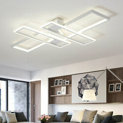 Modern 90cm Ceiling Lamp LED Stepless Dimming with Remote Control Square Light $98.00