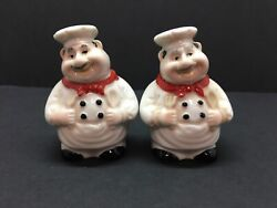 Vintage Italian chefs salt and pepper shakers $15.00