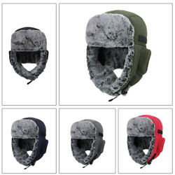 Outdoor Cycling Cold Proof Ear Warm Cap Thickened Ear Winter Warmer Hat Unisex $7.22