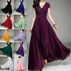 New Women Formal Bridesmaid Evening Cocktail Wedding Gown Party Prom Long Dress $23.99