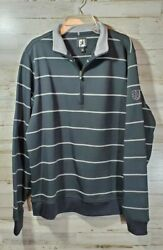 FJ Footjoy Mens Size Medium Black and Gray Golf Sweat Shirt $22.95