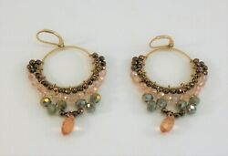 Lonna amp; Lilly Gold Tone multi color Beaded Chandelier Earrings $5.99