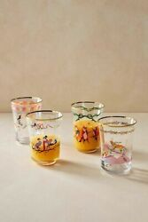 NWT Anthropologie Inslee Fariss 12 Days of Christmas Juice Glass 4 Types $25.00