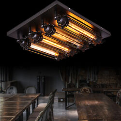 Rustic Steampunk T30 Light Chandelier Pencil Cage Ceiling Lamp Ceiling Light $77.04