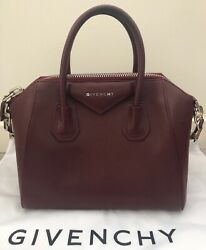 100% Authentic Givenchy Antigona Bag In Oxblood Red Small With Receipt $875.00