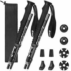 Bessport Trekking Poles Collapsible 2pc Pack Adjustable Hiking or Walking St... $47.84