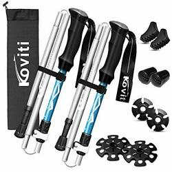 Koviti Trekking Poles Collapsible Hiking Poles 2pc Pack Strong Lightweight ... $52.63