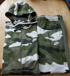 NIKE CAMOUFLAGE RARE TRACKSUIT TAPERED PANTS NEW MEN#x27;S SIZE JACKET amp; PANTS XL