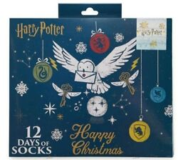 NEW 12 Days of Xmas Socks Women#x27;s Harry Potter Hedwig Hogwarts Sz 4 10 NIB SALE $14.00