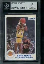 1985 Star #11 Jamaal Wilkes BGS 9 Last 11 ROY#x27;s Rookie of the Year $59.99