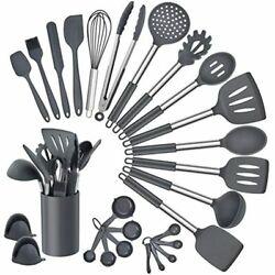 Homikit 27 Pieces Silicone Cooking Utensils Set Holder Kitchen Sets For Gray $27.70