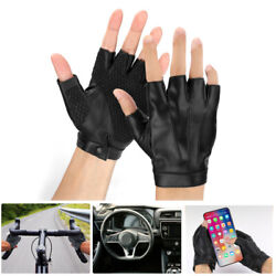 Motorcycle Driving Half Finger Glove Fingerless For Sports Cycling Summer Gloves $8.99
