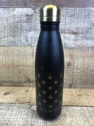 HAMILTON An American Musical Star Grid Water Bottle Broadway Black Gold 500 ml $26.95