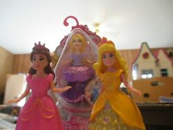 LOT Of Disney Princess Magiclip Magic Clip Dolls Figures Plus Dresses $21.99