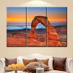 Large Wall Art Decor Poster Painting On Canvas Print Pictures 3 Pcs Arches Na... $64.72